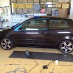 Volkswagen Polo 9N mosás és gyurmatisztítás után